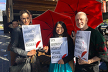 SWOP staff protest at the University of Sydney